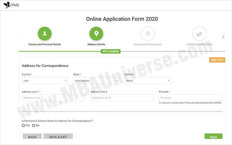 How to apply for FMS Delhi Admission Steps 4