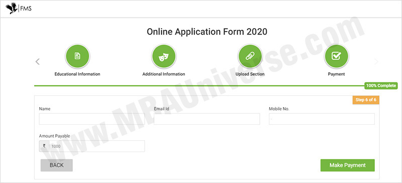 How to apply for FMS Delhi Admission Steps 8