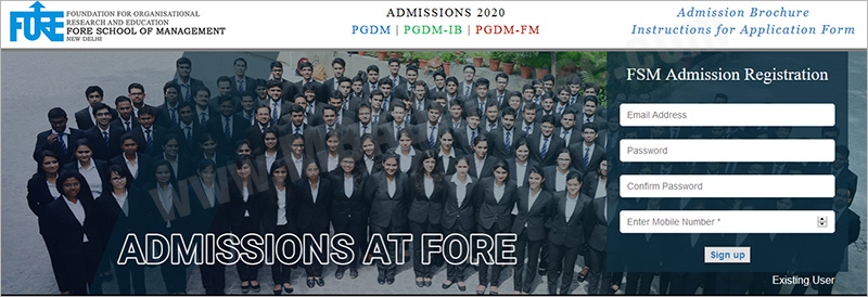 Fore School Of Management Admission Step 1