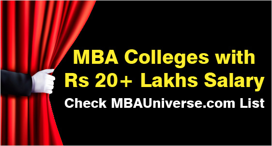 Top MBA Colleges with Rs 20 Lakhs Average Salary