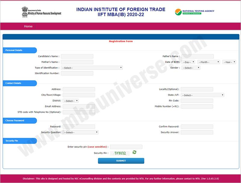 iift application form