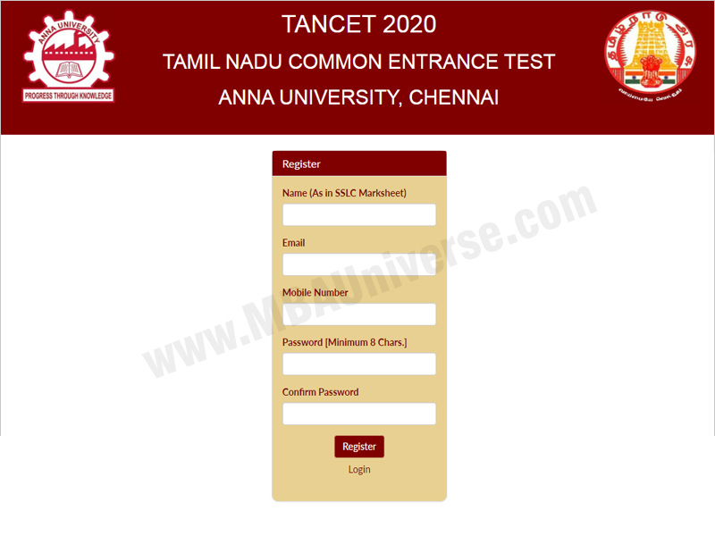 TANCET Registration Process