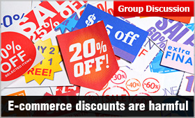 E-commerce: Discounts are harmful in long run? | MBAUniverse com