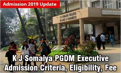 K J Somaiya PGDM Executive Admission 2019