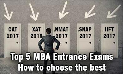 How to choose the MBA exam