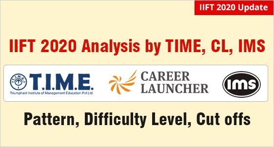 IIFT Exam Analysis by T.I.M.E., CL, IMS, Bulls Eye