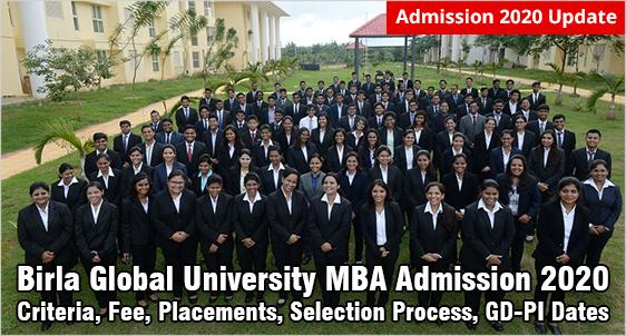 Birla Global University MBA Admission 2020