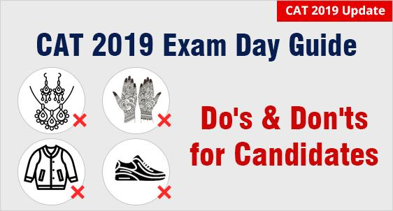 CAT 2019 Exam Day Instructions
