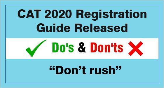 CAT 2020 Registration Guide