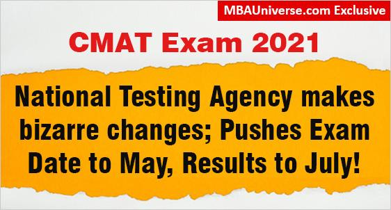 NTA Making Bizarre Changes in CMAT 2021 Exam Dates