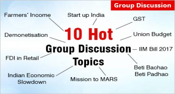 10 Hot Group Discussion topics