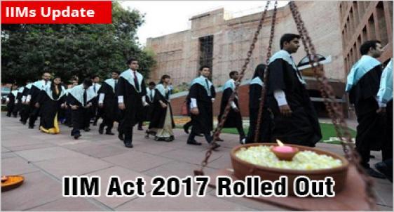 IIM Act 2017 comes into force