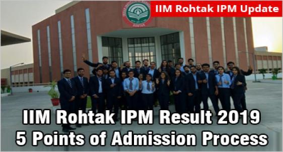 IIM Rohtak IPM Result 2019