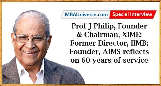 Prof J Philip, Founder & Chairman, XIME