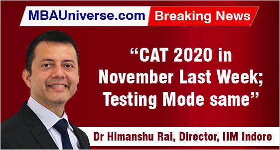 CAT 2020 planned in November last week