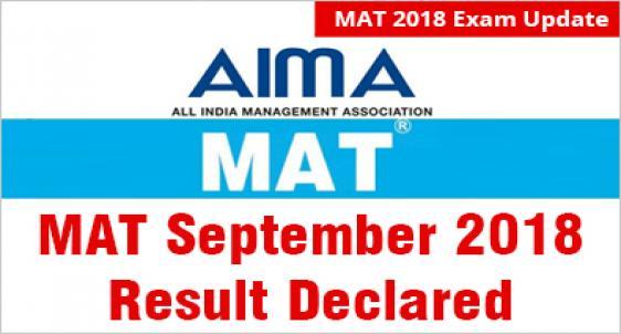 MAT September 2018 Result Declared