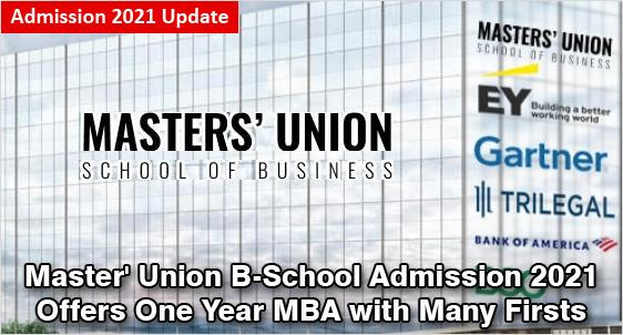 Masters' Union School of Business Admission