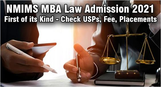 NMIMS MBA Law Admission 2021
