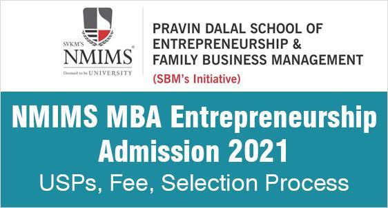 NMIMS MBA Entrepreneurship Admission 2021