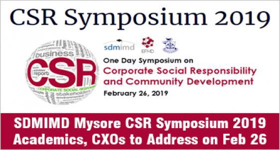 SDMIMD Mysore partners EFMD for CSR Symposium