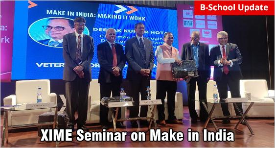 XIME Seminar on 'Make in India