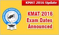 Kmat 2016 Exam Dates Announced Exam On May 29