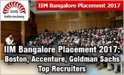 IIM Bangalore Placement 2017: Boston, Accenture, Goldman