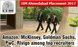 IIM Ahmedabad Placement 2017: Amazon, McKinsey, Goldman Sachs, PwC
