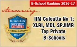 Iim Calcutta Tops Hbl Mbauniverse Com B School Ranking 2016 17 Xlri