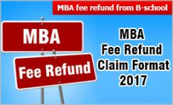 mba fee refund from b school how to write fee refund letter know the aicte rules and claim format