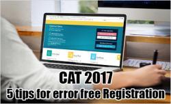 CAT 2017 registration