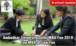 Ambedkar University Delhi MBA Fee