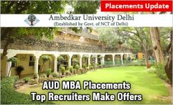 Ambedkar University Delhi MBA Placements 2019