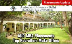 Ambedkar University Delhi MBA Placements 2019