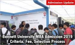 Bennett University MBA Admission 2019
