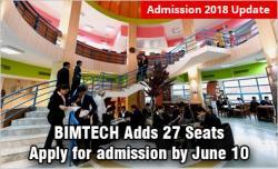 BIMTECH Admission 2018