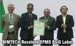 BIMTECH received EFMD BSIS Label