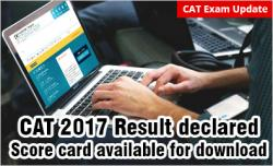 CAT 2017 result out