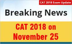 CAT 2018 Date Announced