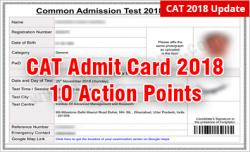 CAT 2018 Admit Card Check & Verify the 10 Details