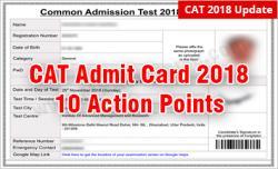 CAT 2018 Admit Card Check & Verify the 10 Details