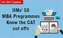 CAT 2017 IIMs' 50+ MBA programmes