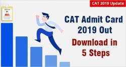 CAT 2019 Admit Card Released