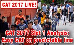 CAT 2017 Slot 1 Analysis