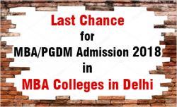 MBA Admission in Delhi 2018