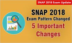 SNAP 2018: 5 Key Changes in Exam Pattern