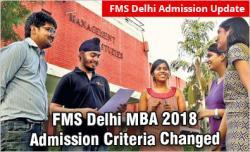 FMS Delhi admission 2018
