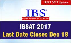 IBSAT 2017 Last date