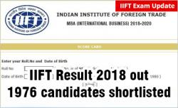 IIFT Result 2018 out