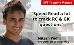 IIFT topper Nitesh